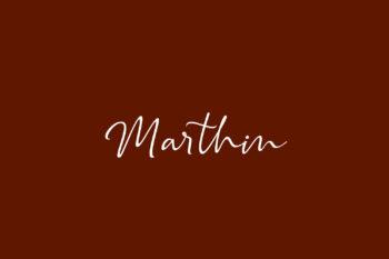 Marthin Free Font