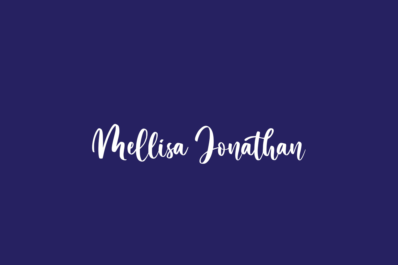 Mellisa Jonathan Free Font