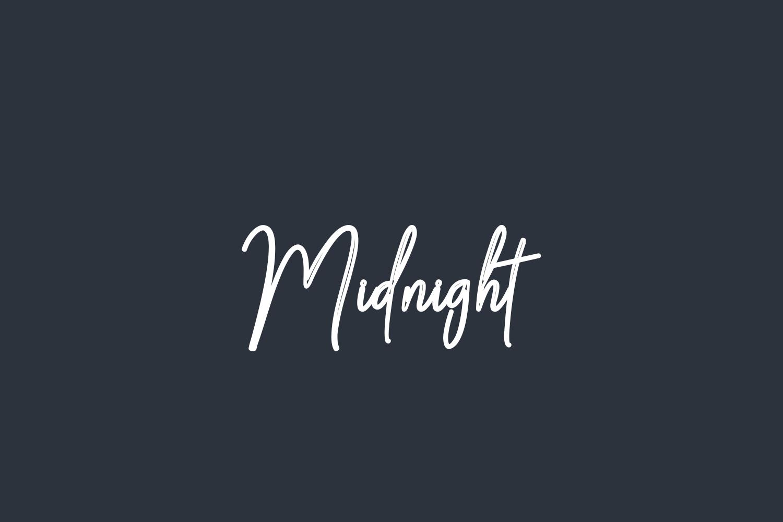 Midnight Free Font