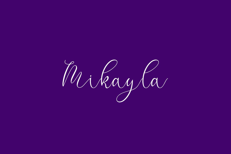 Mikayla Free Font
