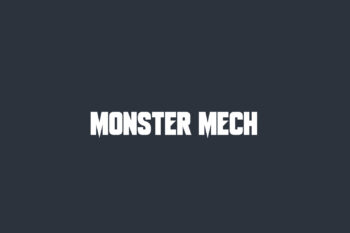 Monster Mech Free Font
