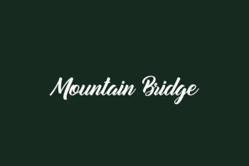 Mountain Bridge Free Font