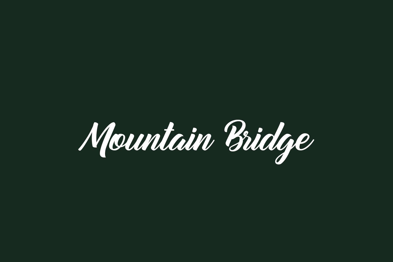 Mountain Bridge Free Font