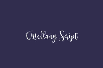 Ossellany Script Free Font