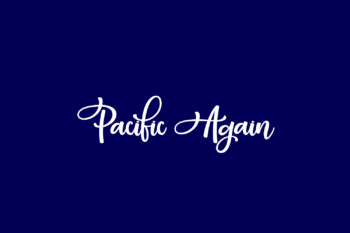 Pacific Again Free Font