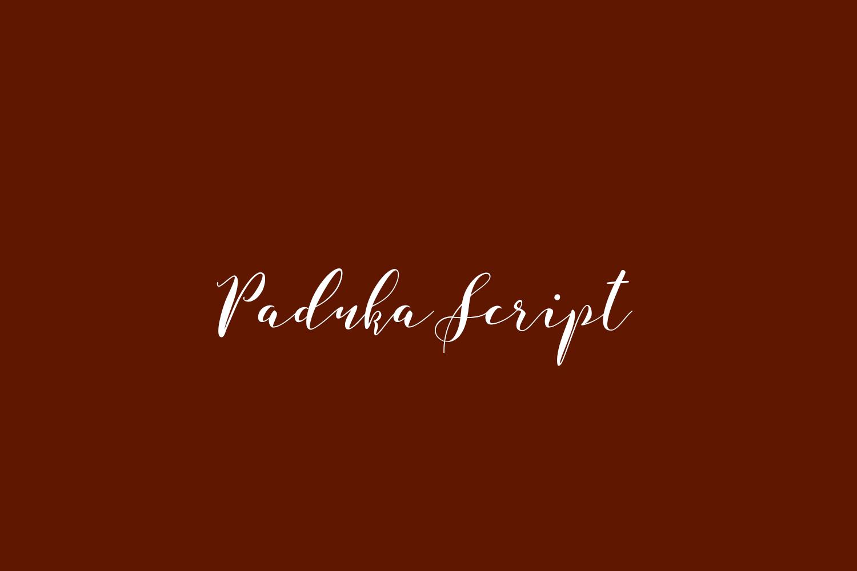 Paduka Script Free Font