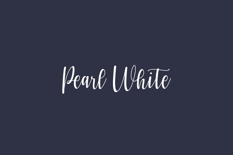 Pearl White Free Font