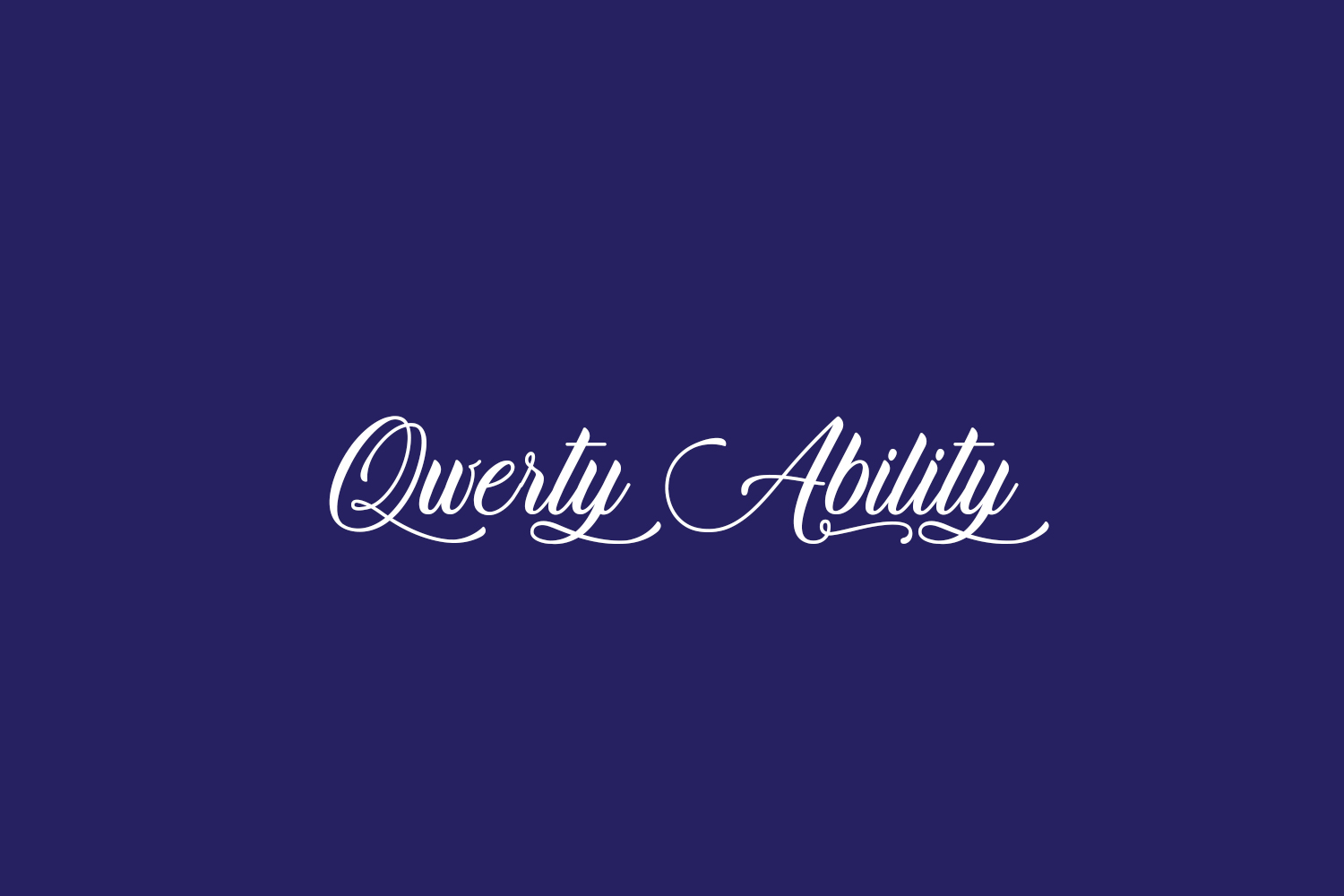 Qwerty Ability Free Font