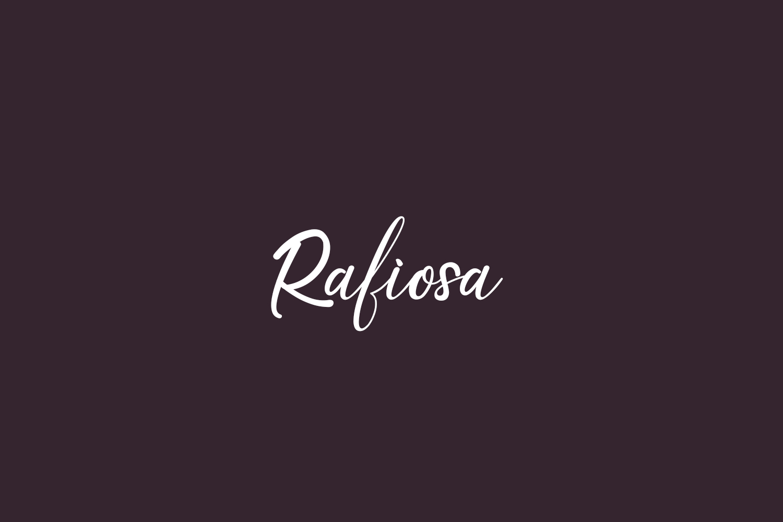 Rafiosa Free Font