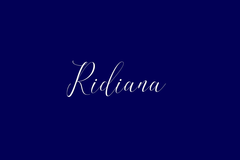 Ridiana Free Font
