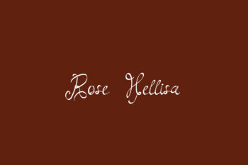 Rose Hellisa Free Font