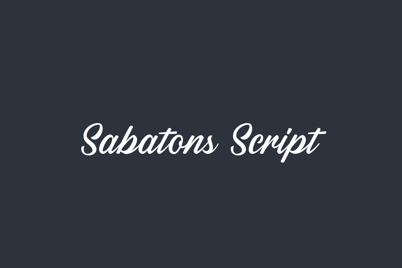 Sabatons Script Free Font