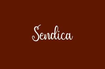 Sendica Free Font