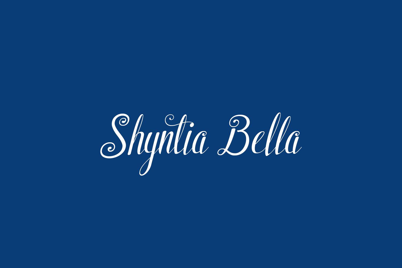 Shyntia Bella Free Font