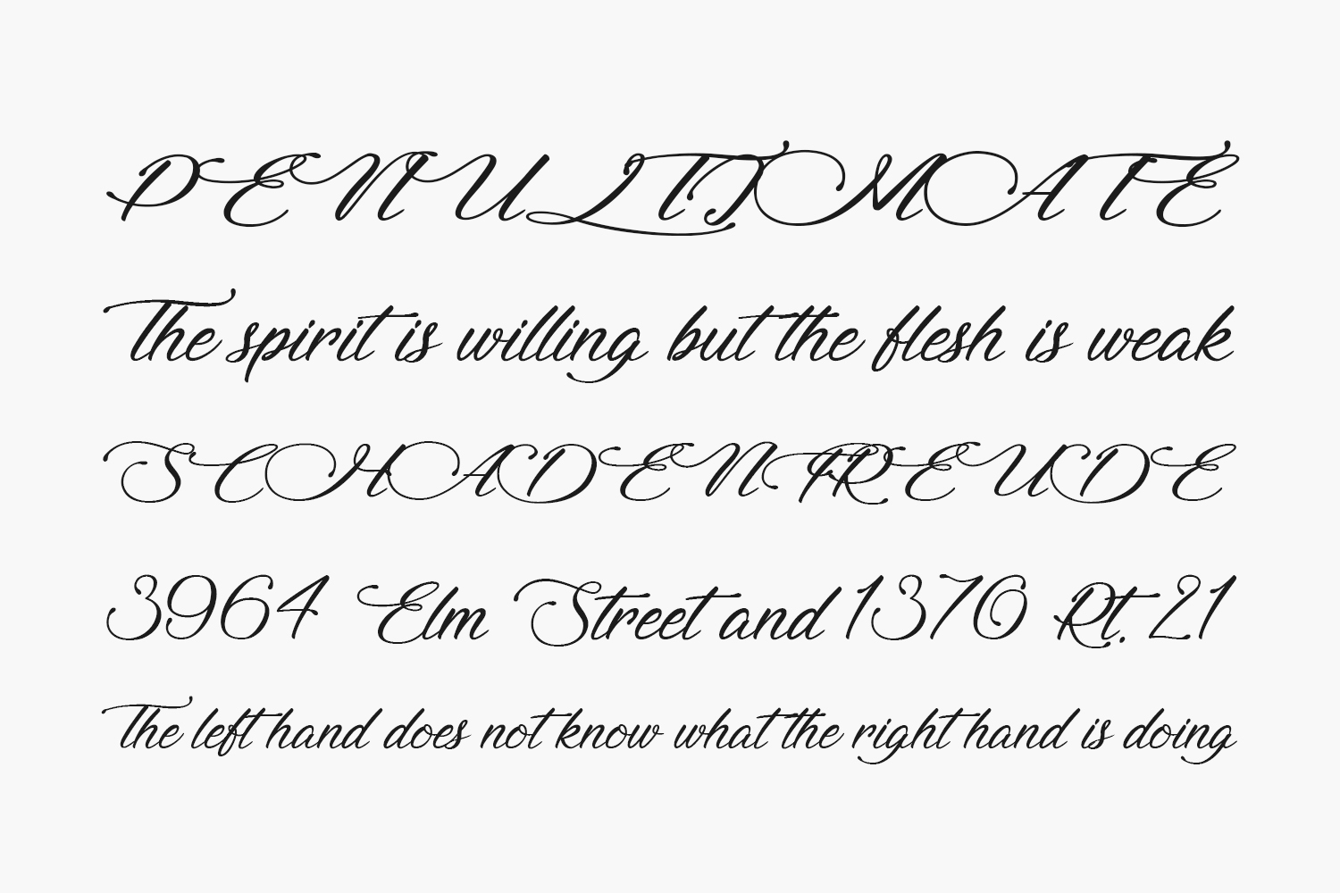 Signature of the Ancient Free Font