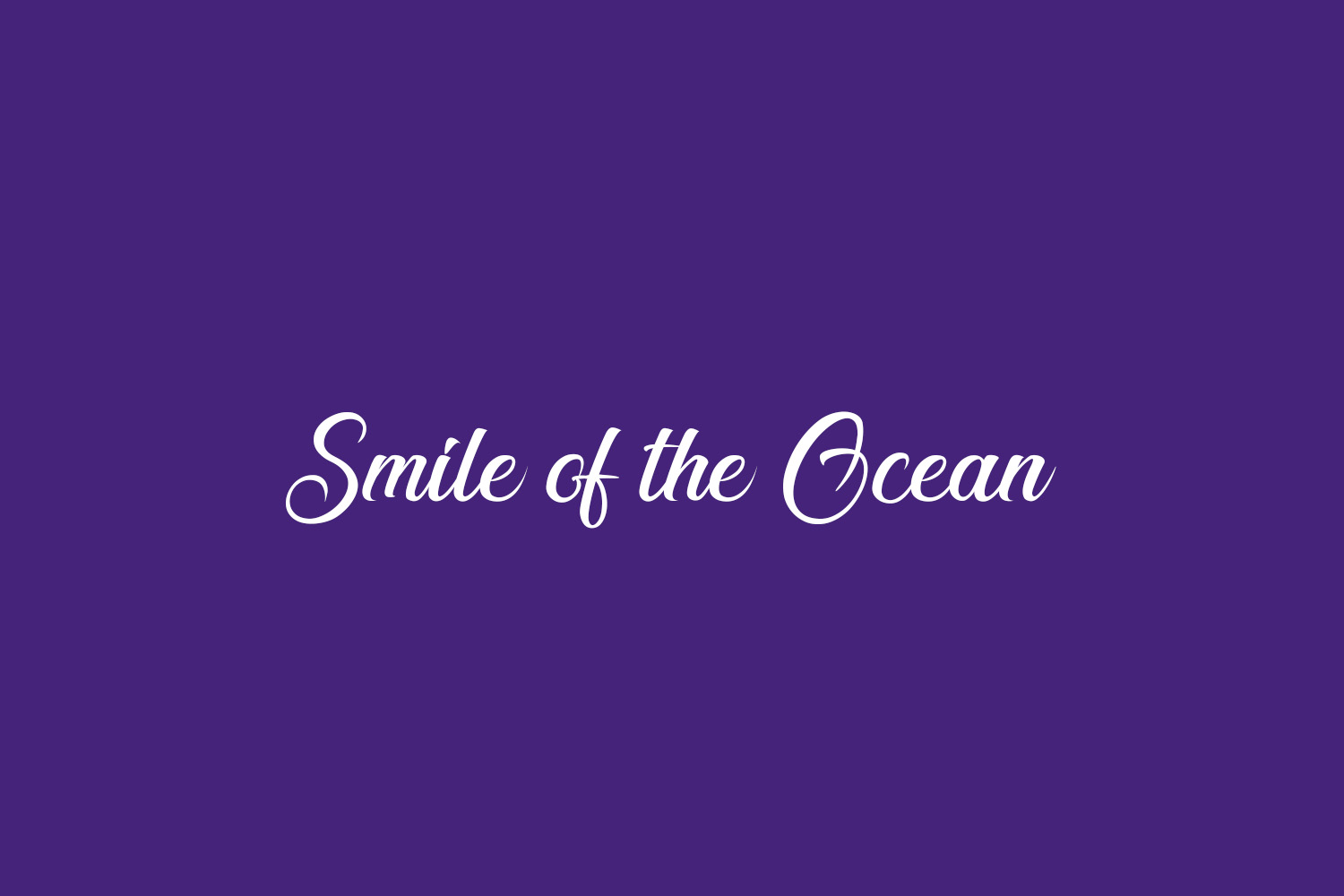 Smile of the Ocean Free Font