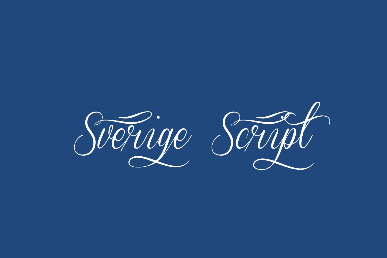 Sverige Script Free Font
