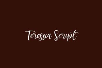 Teressia Script Free Font