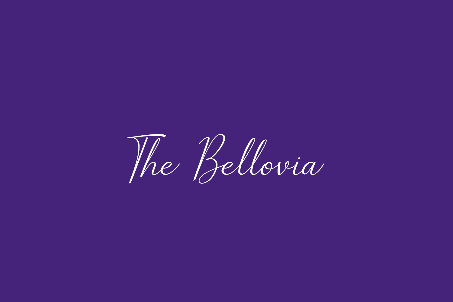 The Bellovia Free Font