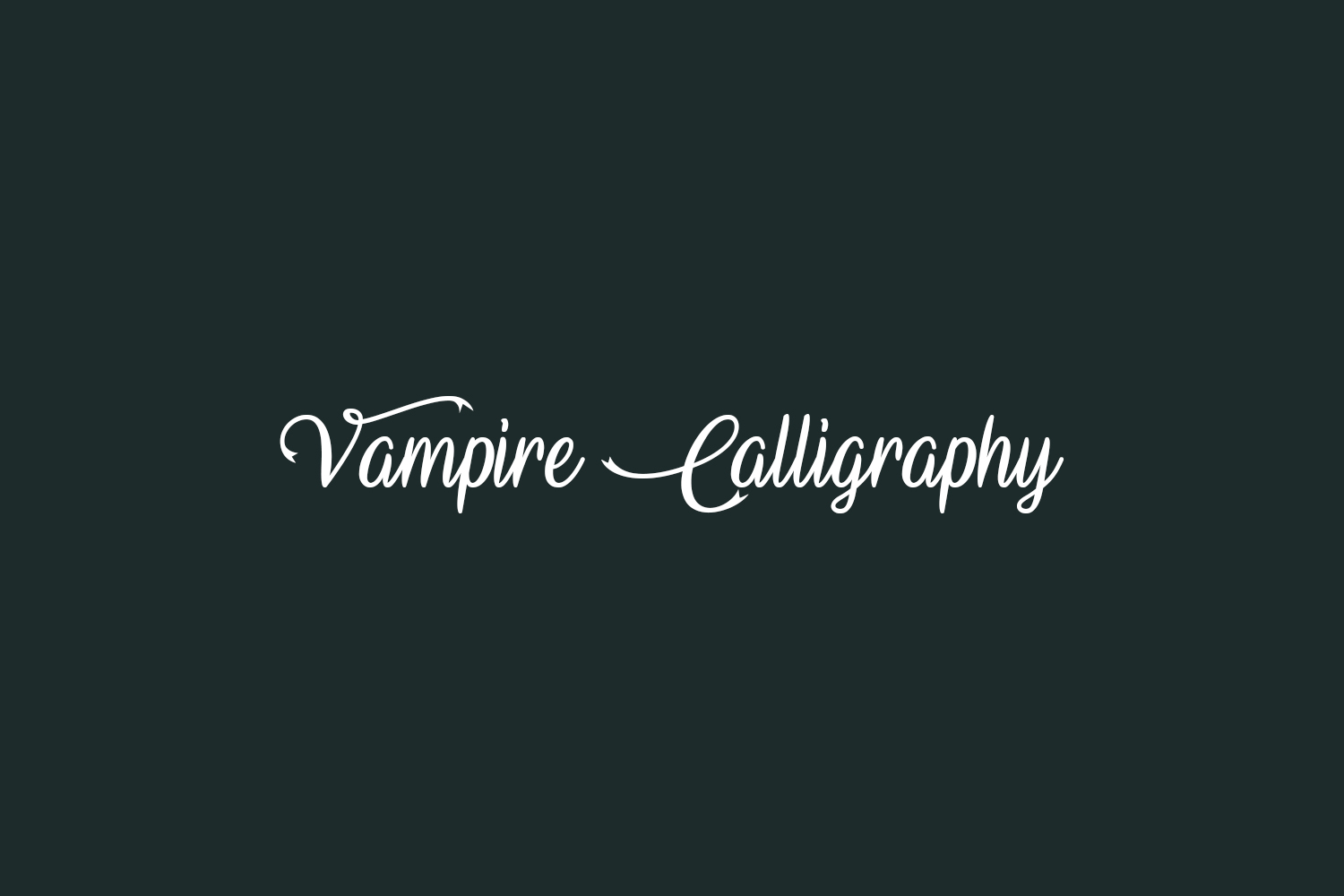 Vampire Calligraphy Free Font