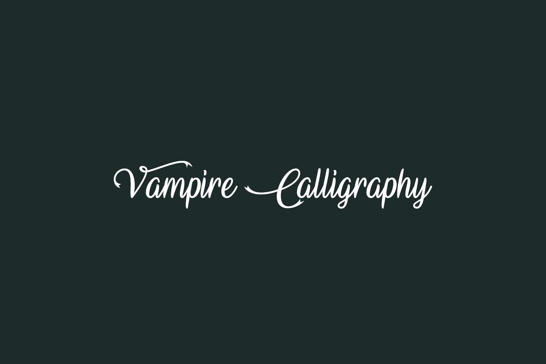 Vampire Calligraphy Free Font