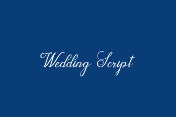 Wedding Script Free Font