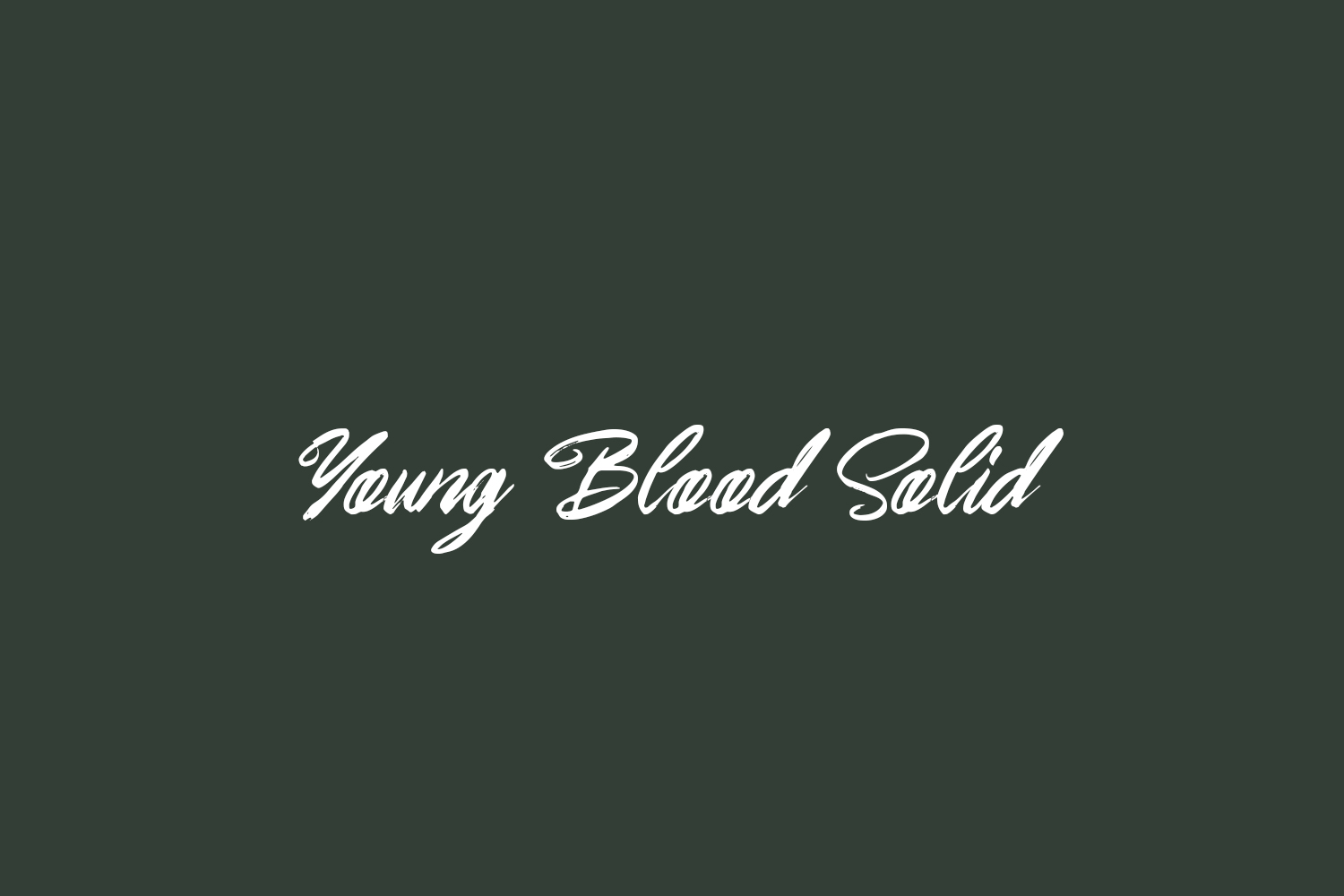 Young Blood Solid Free Font