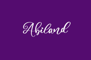 Abiland Free Font
