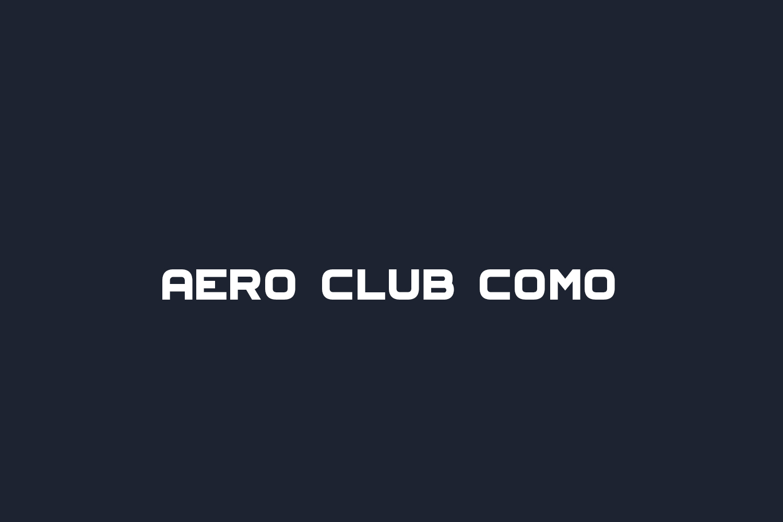 Aero Club Como Free Font