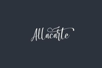 Allacarte Free Font