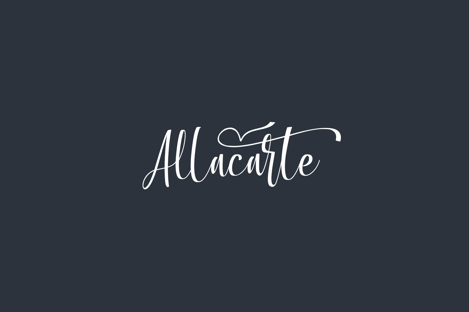 Allacarte Free Font