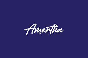 Amertha Free Font