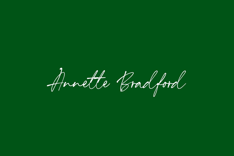 Annette Bradford Free Font