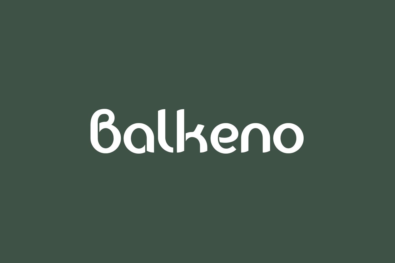 Balkeno Free Font