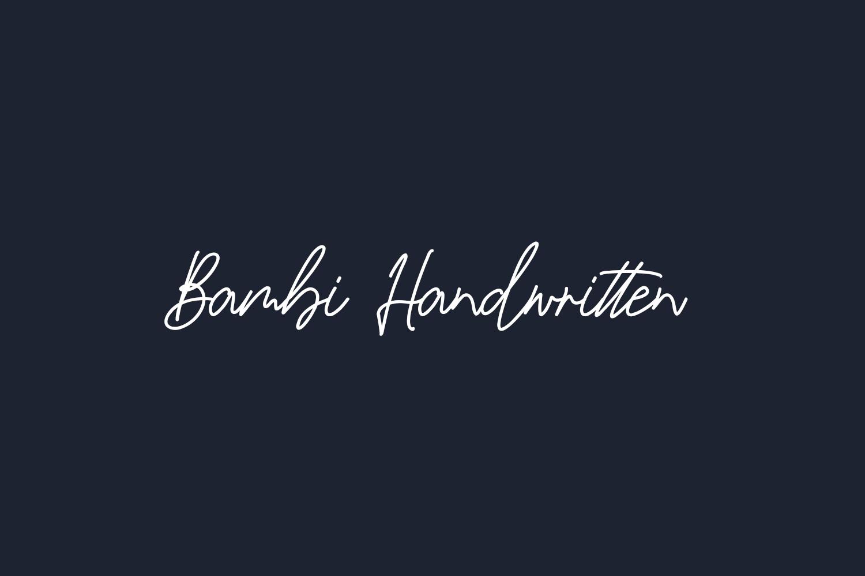 Bambi Handwritten Free Font