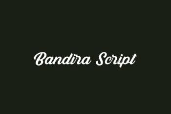 Bandira Script Free Font