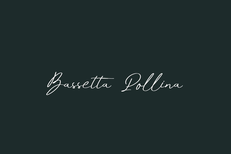 Bassetta Pollina Free Font