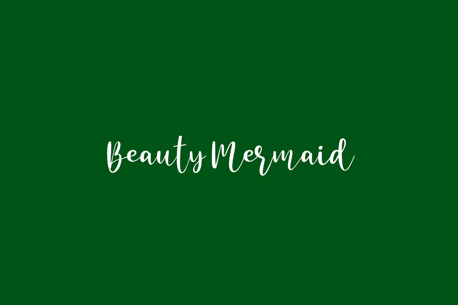 Beauty Mermaid Free Font