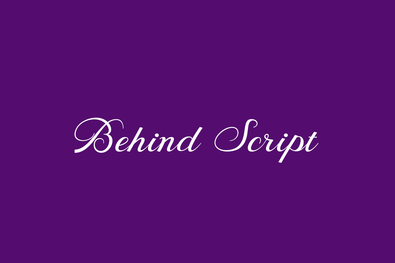 Behind Script Free Font
