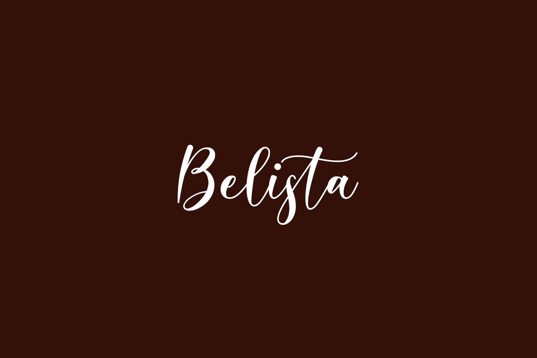Belista Free Font