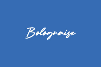 Bolognaise Free Font