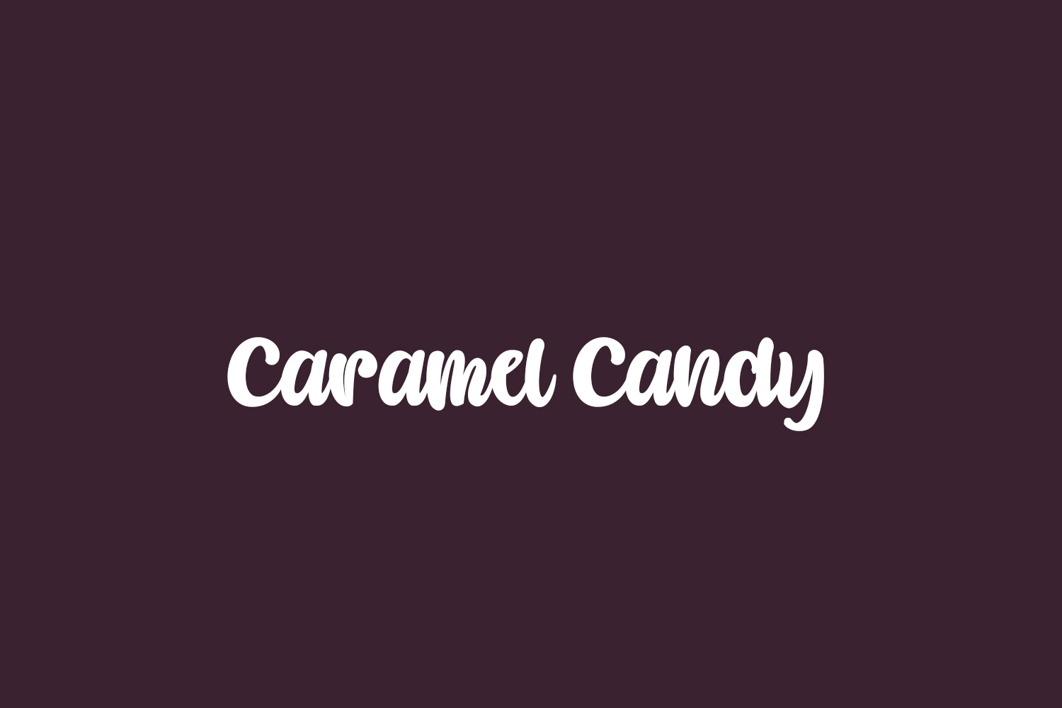 Caramel Candy Free Font