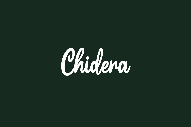 Chidera Free Font