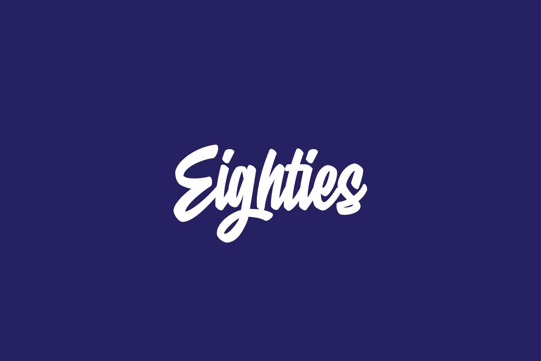 Eighties Free Font