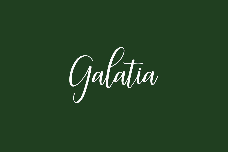 Galatia Free Font