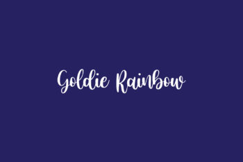 Goldie Rainbow Free Font