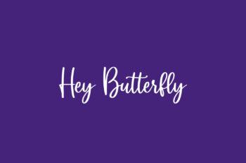 Hey Butterfly Free Font