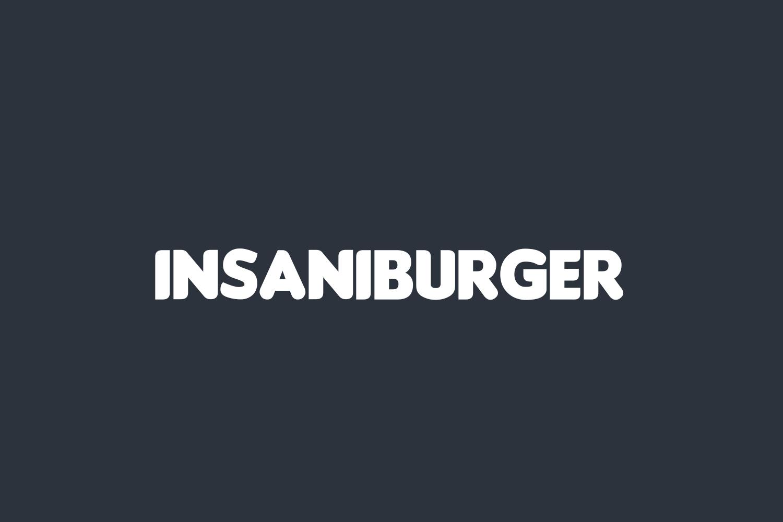 Insaniburger Free Font