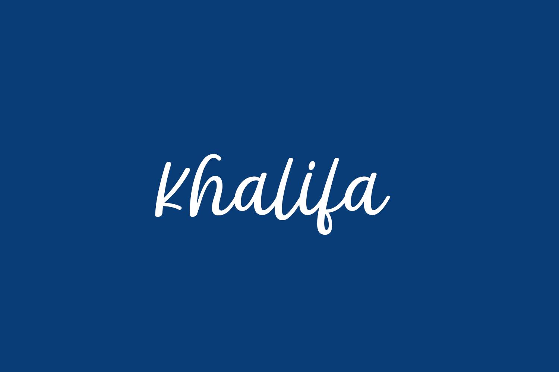 Khalifa Free Font