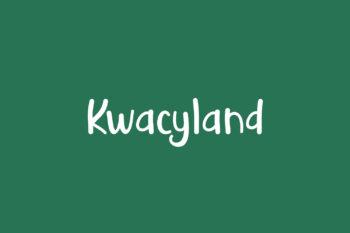 Kwacyland Free Font